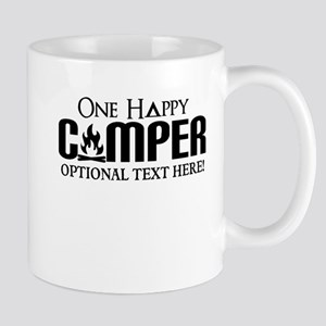 ONE HAPPY CAMPER FUNNY PERSONALIZED Mugs