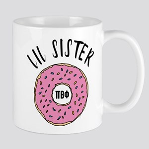 Pi Beta Phi Lil Sister Donut 11 oz Ceramic Mug