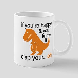 T-Rex clap your hands 11 oz Ceramic Mug