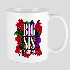 Phi Sigma Sigma Big Floral 11 oz Ceramic Mug