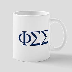 Phi Sigma Sigma Letters 11 oz Ceramic Mug