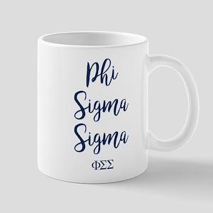 Phi Sigma Sigma Script 11 oz Ceramic Mug