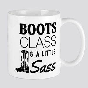 Boots Class And A Little Sass Mugs