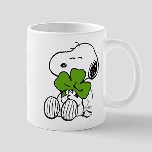 Snoopy Hugging Clover 11 oz Ceramic Mug