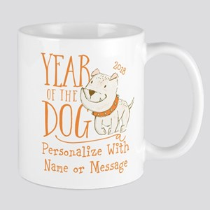 CUSTOM Cute Year Of The Dog Mugs