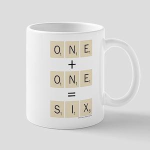 Scrabble One Plus One Six 11 oz Ceramic Mug