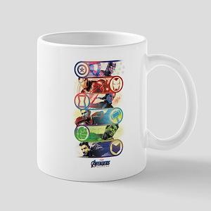 Badges of Avengers Endgame 11 oz Ceramic Mug