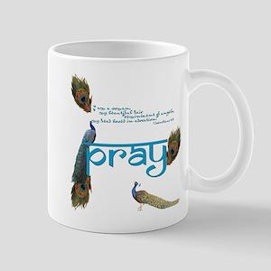 Peacock Prayer Mug