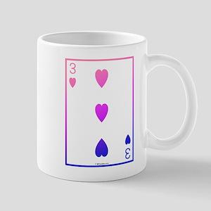 bi colored 3 of hearts Mug