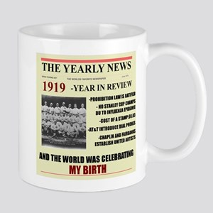 born in 1919 birthday gift Large Mugs