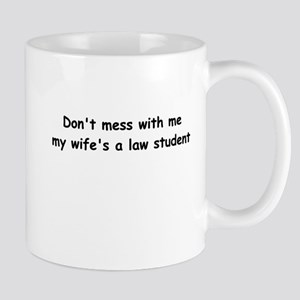 My wife's a law student Mug