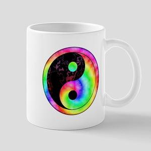 Rainbow Spiral Yin Yang Mug