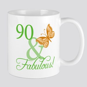 90 & Fabulous Birthday Mug