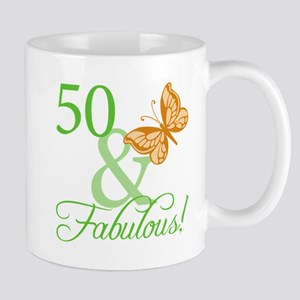 50 & Fabulous Birthday Mug