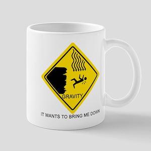 Gravity Yield Sign Mug