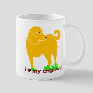 Golden Tripawd Love Mug
