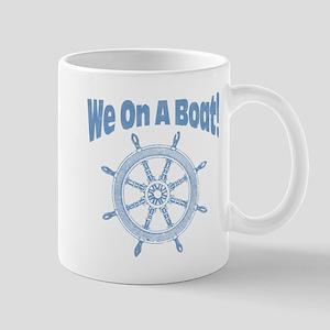 On A Boat:: Mug