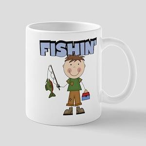 Stick Figure Boy Fishin' Mug