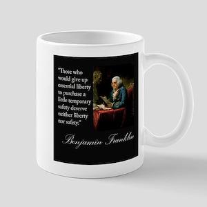 Ben Franklin Quote Portrait Mug