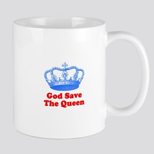 God Save the Queen (blue/red) Mug