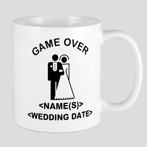 Game Over (Names and Wedding Date) Mug