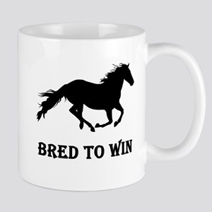 Bred To Win Horse Racing Mug