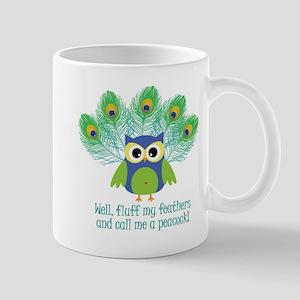 Fluff My Feathers Large Mugs