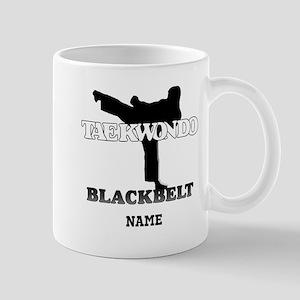 Personalized TaeKwonDo Black Belt Large Mugs