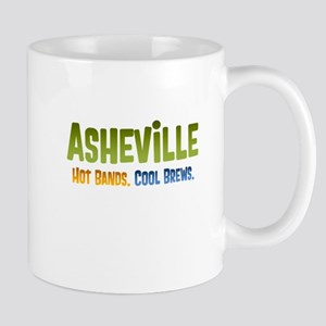 Asheville. Hot bands. Mug