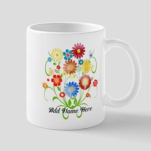 Personalized floral light Mug