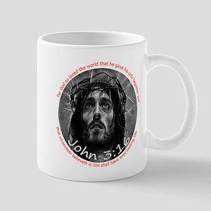 John 3:16 Crown of Thorns 6x6 Mugs