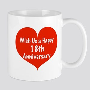 Wish us a Happy 18th Anniversary Mug