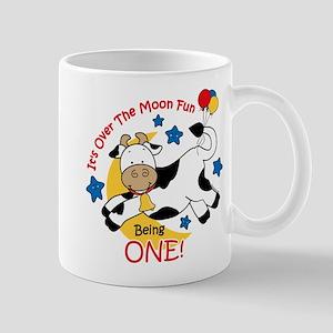 Cow Over Moon 1st Birthday 11 oz Ceramic Mug