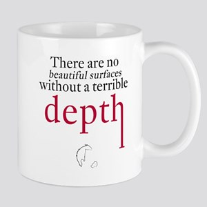 Nietzsche Quote - Beautiful Surfaces Mugs