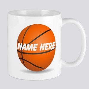 Personalized Basketball Ball Mugs