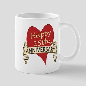 25th. anniversary Mugs