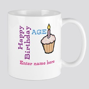 Personalized Birthday Cupcake Mug