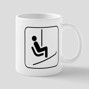 Snow Skiing Chair Lift Mug