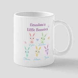Grandmas little bunnies custom Mug