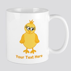 Cute Chick with Text. Mug