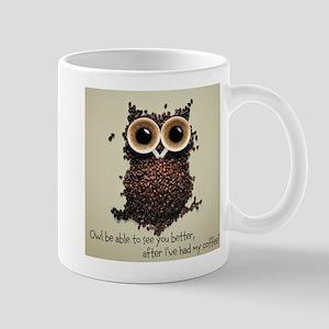 Owl says COFFEE!! Mugs