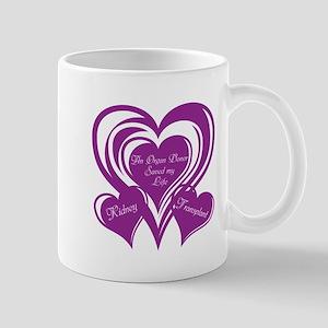Purple love Triple Heart Mug