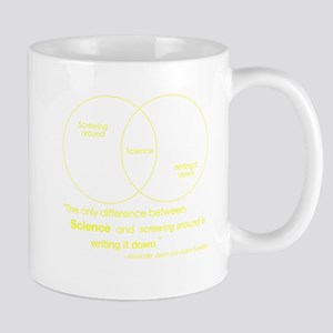 Mythbusters Science Quote (yellow) Mug