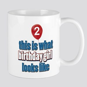 2 year old birthday girl designs Mug