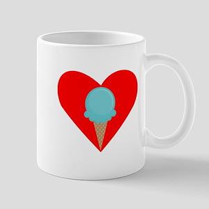 Blue Waffle Cone Heart Small Mug