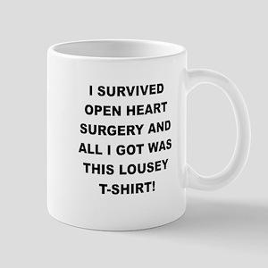 I SURVIVED HEART SURGERY Mugs