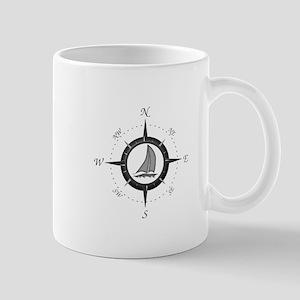Sailboat and Compass Rose Mug