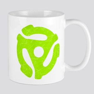 Lime Green Distressed 45 RPM Adapter Mug