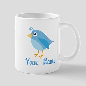 Personalized Blue Bird Mug