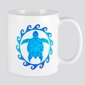 Ocean Blue Turtle Sun Mugs